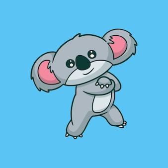 Cartoon dierlijk ontwerp cool koala schattig mascotte logo