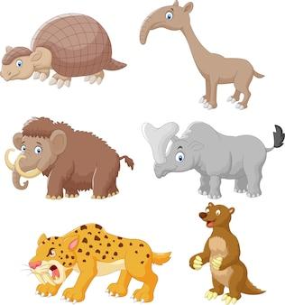 Cartoon dierlijke collectie set