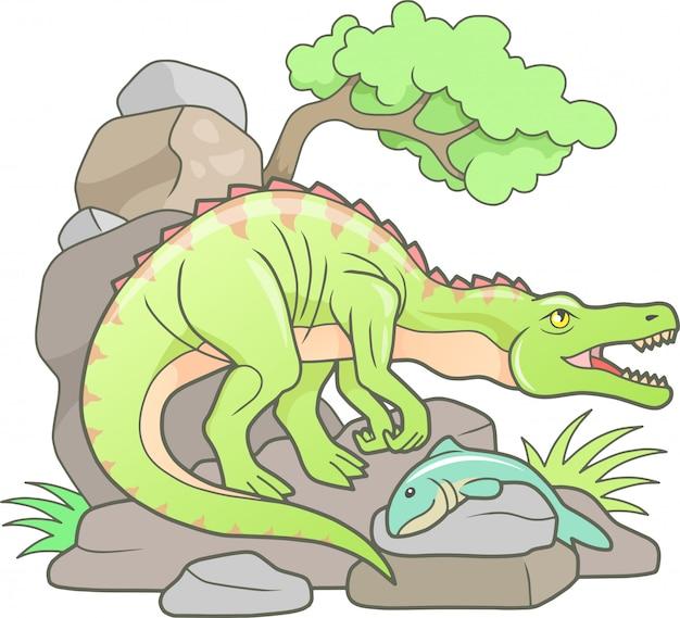 Cartoon dinosaurus baryonyx