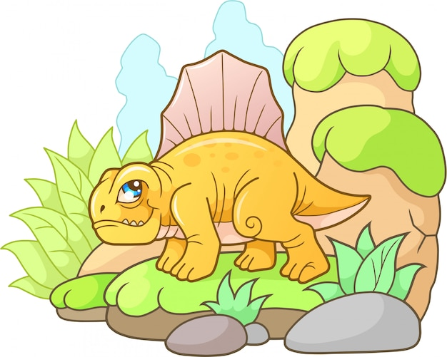Cartoon dinosaurus dimetrodon