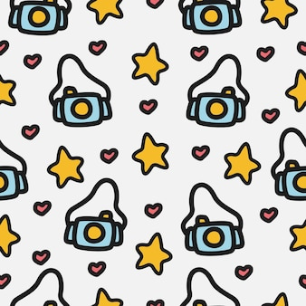 Cartoon doodle camera patroon ontwerp