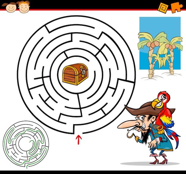 Cartoon doolhof of labyrint spel