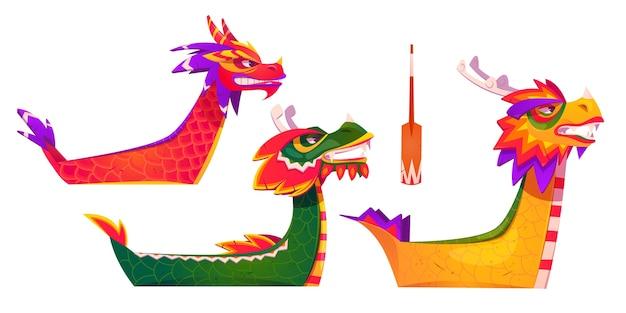 Cartoon dragon boat element-collectie