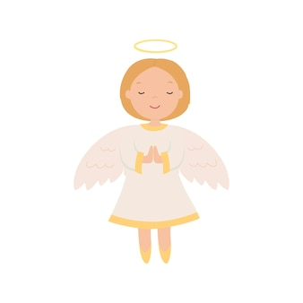 Cartoon engel. vectorillustratie geïsoleerd op een witte achtergrond. eps10