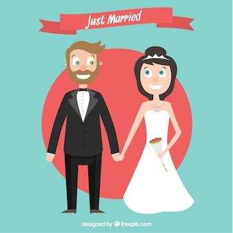 Cartoon enkel echtpaar