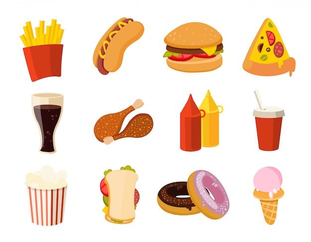 Cartoon fastfood