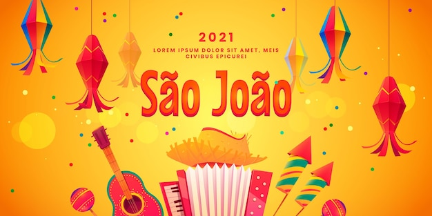 Cartoon festa junina achtergrond