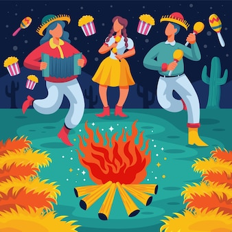 Cartoon festa junina illustratie