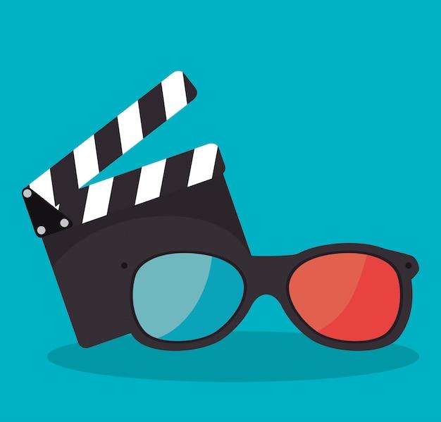 Cartoon filmklapper filmfestival film ontwerp