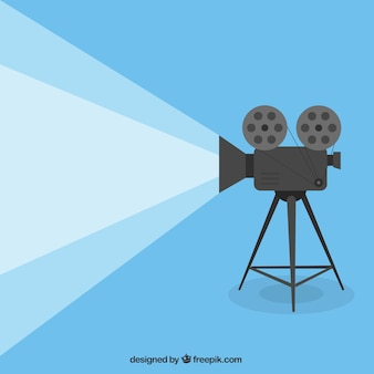 Cartoon filmprojector Premium Vector
