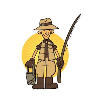 Cartoon fisher papa
