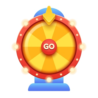 Cartoon fortune wheel illustratie.