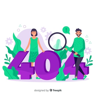 Cartoon fout 404 concept illustratie