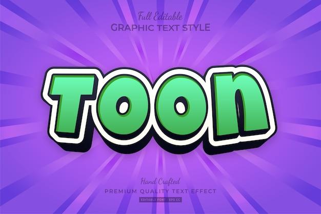 Cartoon fun bewerkbare teksteffect lettertypestijl