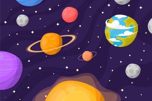 Cartoon galaxy achtergrond