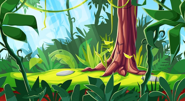 Cartoon game-interface kleurrijk