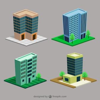 Cartoon gebouwen