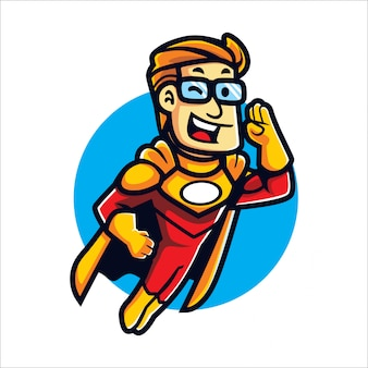 Cartoon geek hero