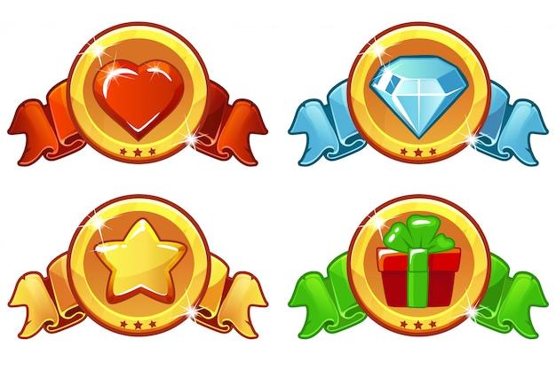 Cartoon gekleurd pictogram voor spel