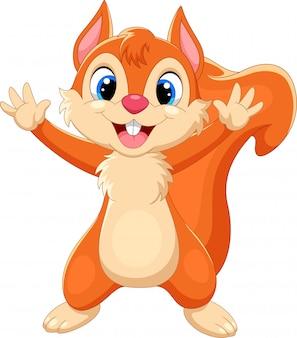 Cartoon gelukkig eekhoorn