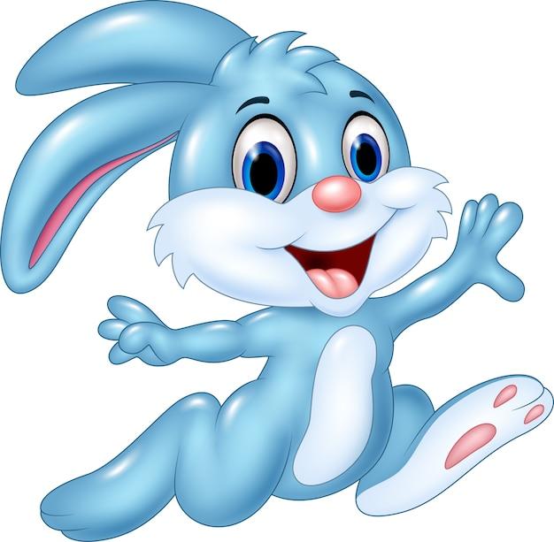 Cartoon gelukkig konijn uitgevoerd