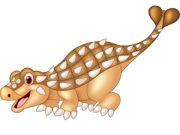 Cartoon gelukkige ankylosaurus