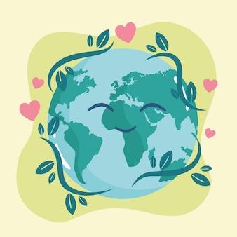 Cartoon gelukkige planeet