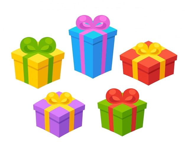 Cartoon geschenkdozen set