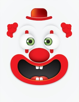 Cartoon gezichten leuke clown.