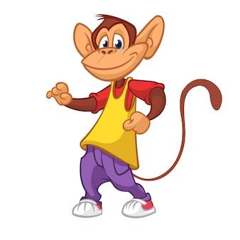Cartoon grappige aap illustratie