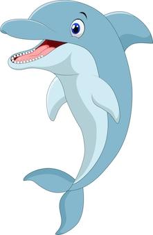 Cartoon grappige dolfijn springen