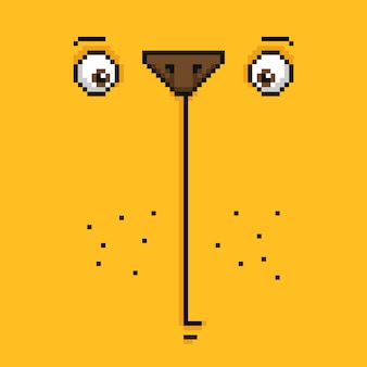 Cartoon grappige gele beer gezicht