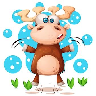 Cartoon grappige herten