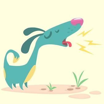 Cartoon grappige hond blaft