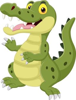 Cartoon grappige krokodil geïsoleerd