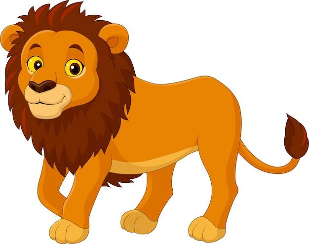 Cartoon grappige leeuw