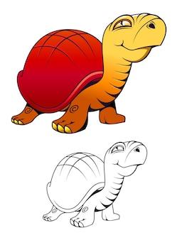 Cartoon grappige schildpad