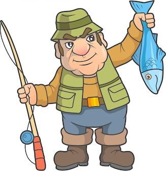 Cartoon grappige visser