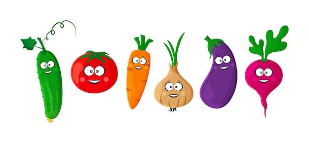 Cartoon groenten grappig