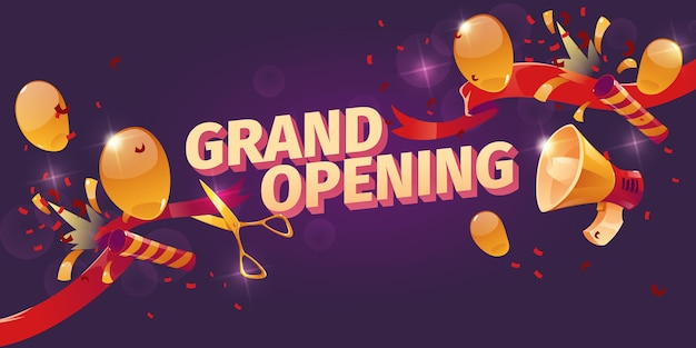 Cartoon grote opening achtergrond