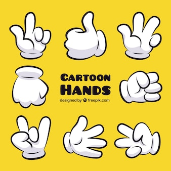 Cartoon hand gebaren