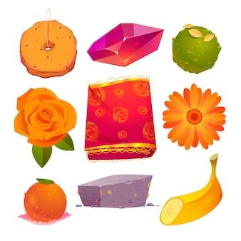 Cartoon hanuman jayanti elementen collectie