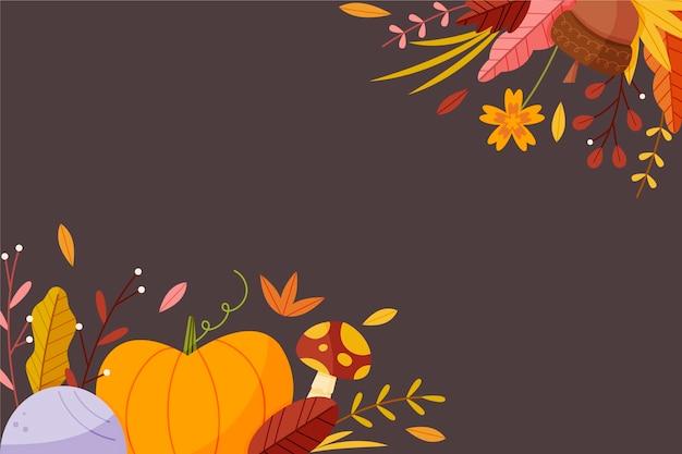 Cartoon herfst achtergrond