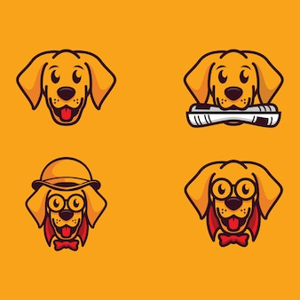 Cartoon hond logo collectie