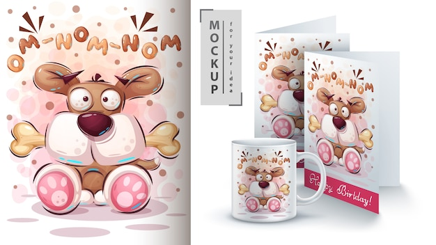 Cartoon hond poster en merchandising