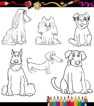 Cartoon hond rassen kleurplaat