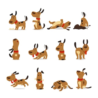 Cartoon honden set