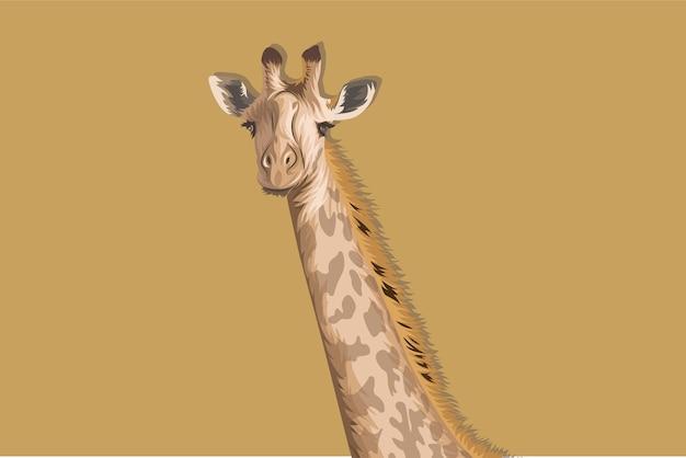 Cartoon hoofd giraffe