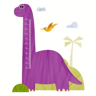 Cartoon hoogtemeter voor kinderen