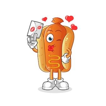 Cartoon hotdog illustratie